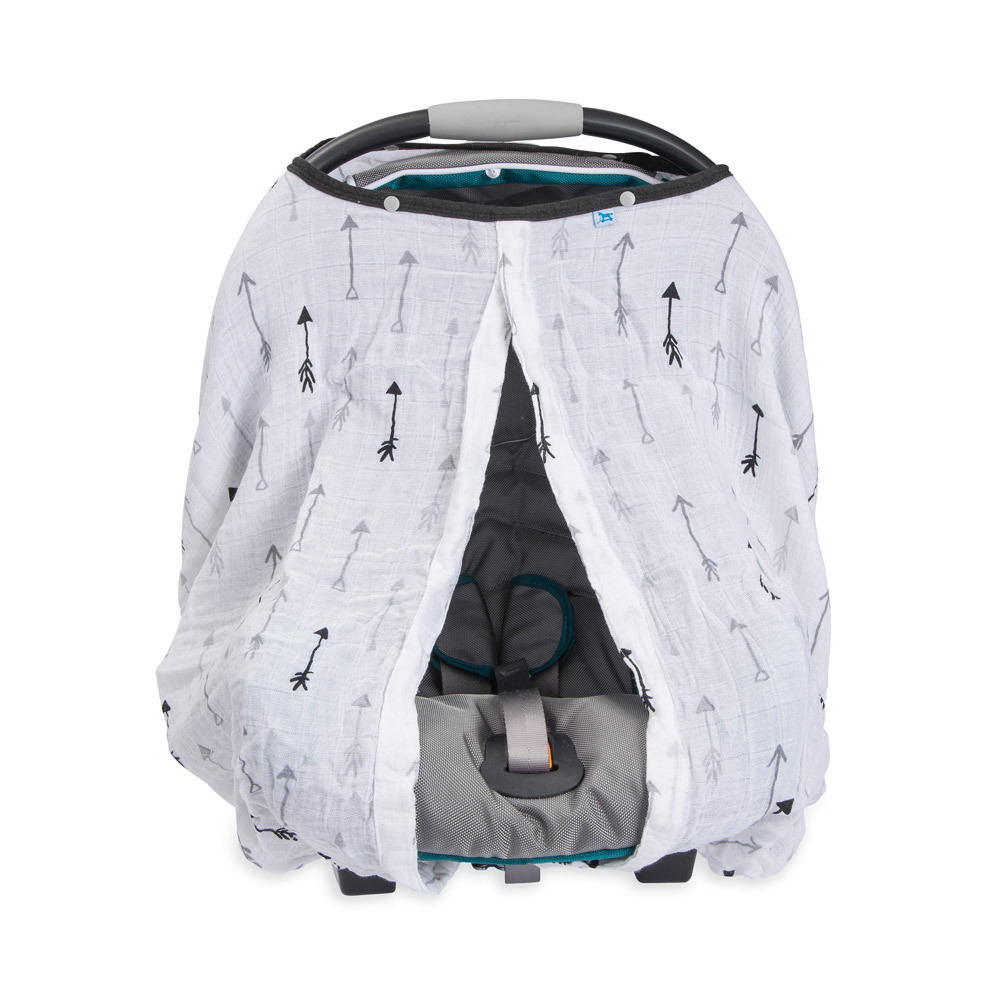 Little Unicorn: Muslin Car Seat Canopy - Arrow image