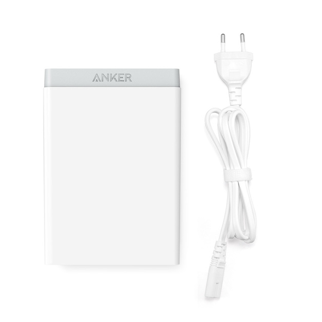 ANKER: PowerPort 6 60W 6-Port Desktop Charger with 3x PowerIQ 2.4A ports - White
