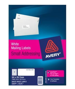 White Address Labels with Quick Peel (1500 labels)