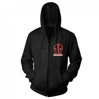 Deadpool Zipped Hooded Sweater - Logo (Large)