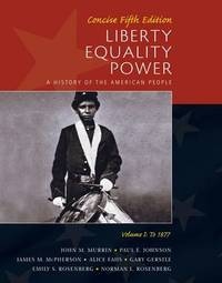 Liberty, Equality, Power: v. 1 by Norman Rosenberg image