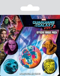 Guardians of the Galaxy Vol. 2 Pin Badges (Cosmic, 5-Pack)