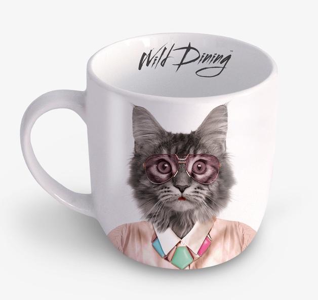 Wild Dining: Ceramic Mug - Cat