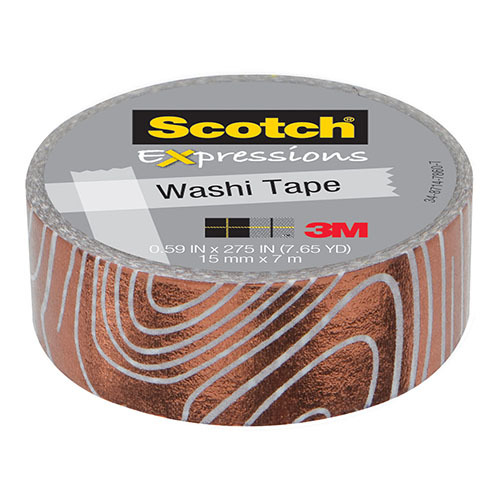 Scotch Expressions: Foil Washi Tape - Swirl (15mm x 7m)