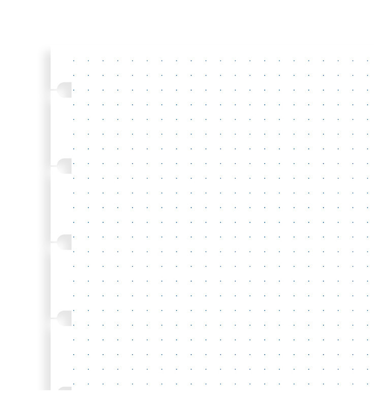 Filofax: A5 Notebook Grid Dot Journal Refill Paper image