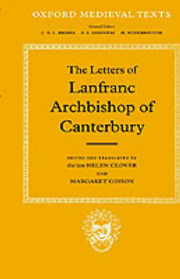 The Letters of Lanfranc, Archbishop of Canterbury by Lanfranc image