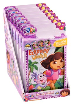 Holdson: Dora 3 In 1 Mini Puzzles