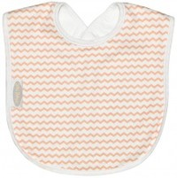 Silly Billyz Large Bib (Peach Chevron)