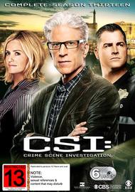 CSI - Season 13 on DVD