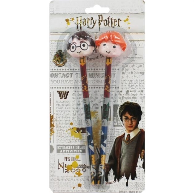 Harry Potter Pencils with Eraser Topper (2 Pack)