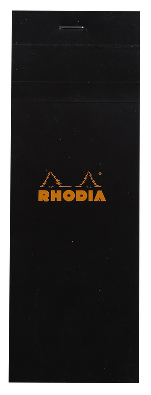Bloc Rhodia Shopping Pad 7.4x21cm Black - Graph