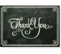Chalkboard Thank You Notes (14 Cards/Envelopes)