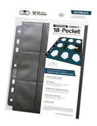 Ultimate Guard: 18-Pocket Mini-American Compact Pages (Black)
