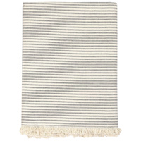 Raine & Humble Manor Stripe Charcoal Tablecloth