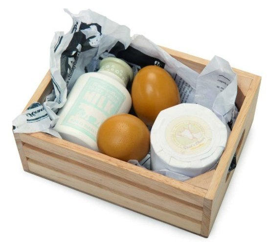 Le Toy Van: Honeybee - Eggs and Dairy Wooden Crate Set