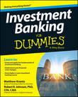 Investment Banking For Dummies by Matt Krantz