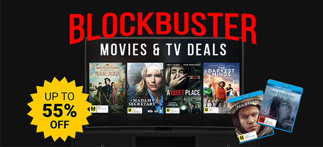 Blockbuster Movie & TV Deals! Save up to 55% off!
