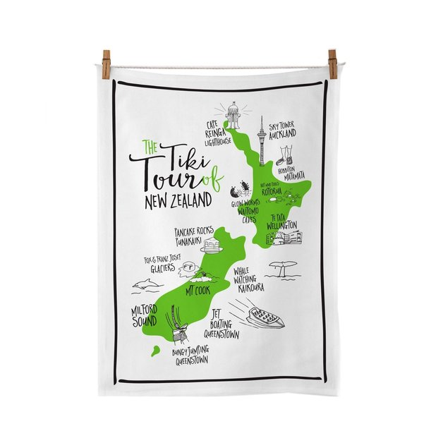 Moana Road: Tea Towel - Tiki Tour