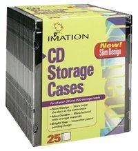 Imation BLACK SLIM JEWEL CASES - 25 PACK image