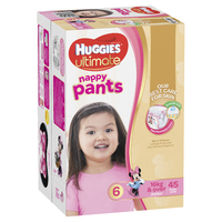 Huggies Ultimate Nappy Pants: Jumbo Pack - Junior Girl 16kg+ (45)