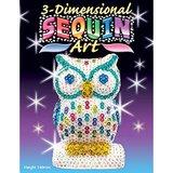 3D Sequin Art - Owl