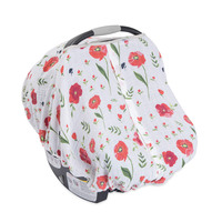 Little Unicorn: Muslin Car Seat Canopy - Summer Poppy