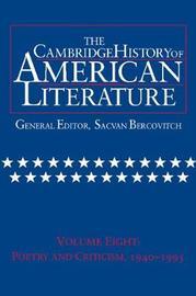The Cambridge History of American Literature: Volume 8 image