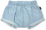 Bonds Chambray Shorts - Summer Blue (0-3 Months)