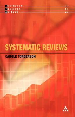 Systematic Reviews and Meta-Analysis by Carole Torgerson image
