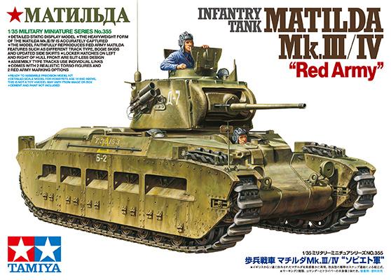 Tamiya: 1/35 Infantry Tank Matilda Red Army - Mk.III/IV