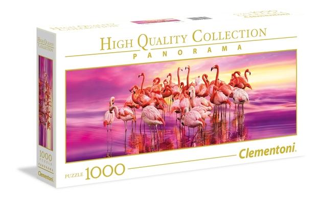 Clementoni Panorama: 1000-Piece Puzzle - Flamingo Dance
