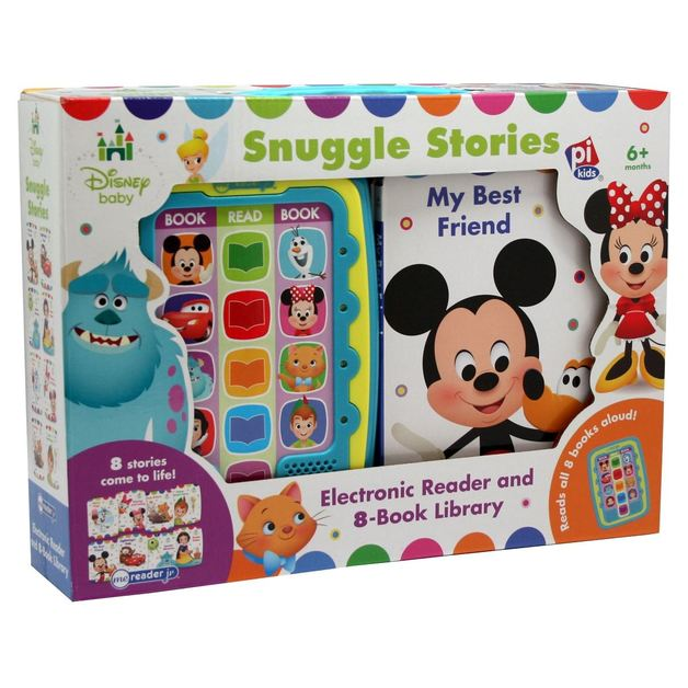 Disney Baby Snuggle Stories – 8-Book Library and Me Reader Jr. Electronic Reader
