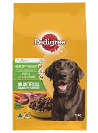 Pedigree Adult Healthy Weight With Lean Lamb (15kg)