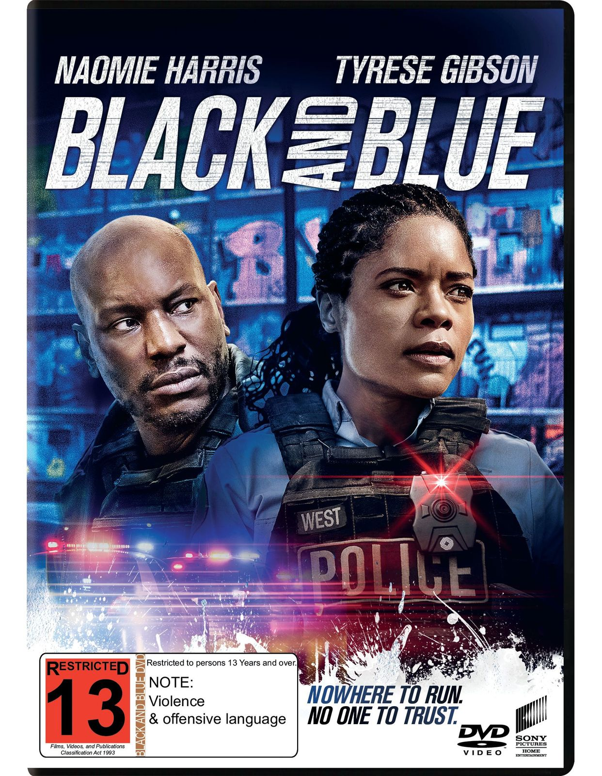 Black and Blue (2019) on DVD image