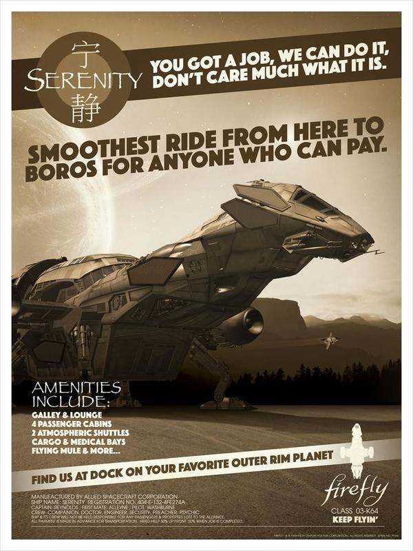 Firefly: Serenity for Hire - Lithograph Art Print