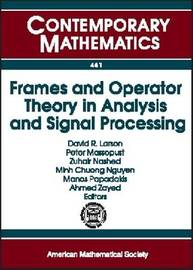 Frames and Operator Theory in Analysis and Signal Processing image