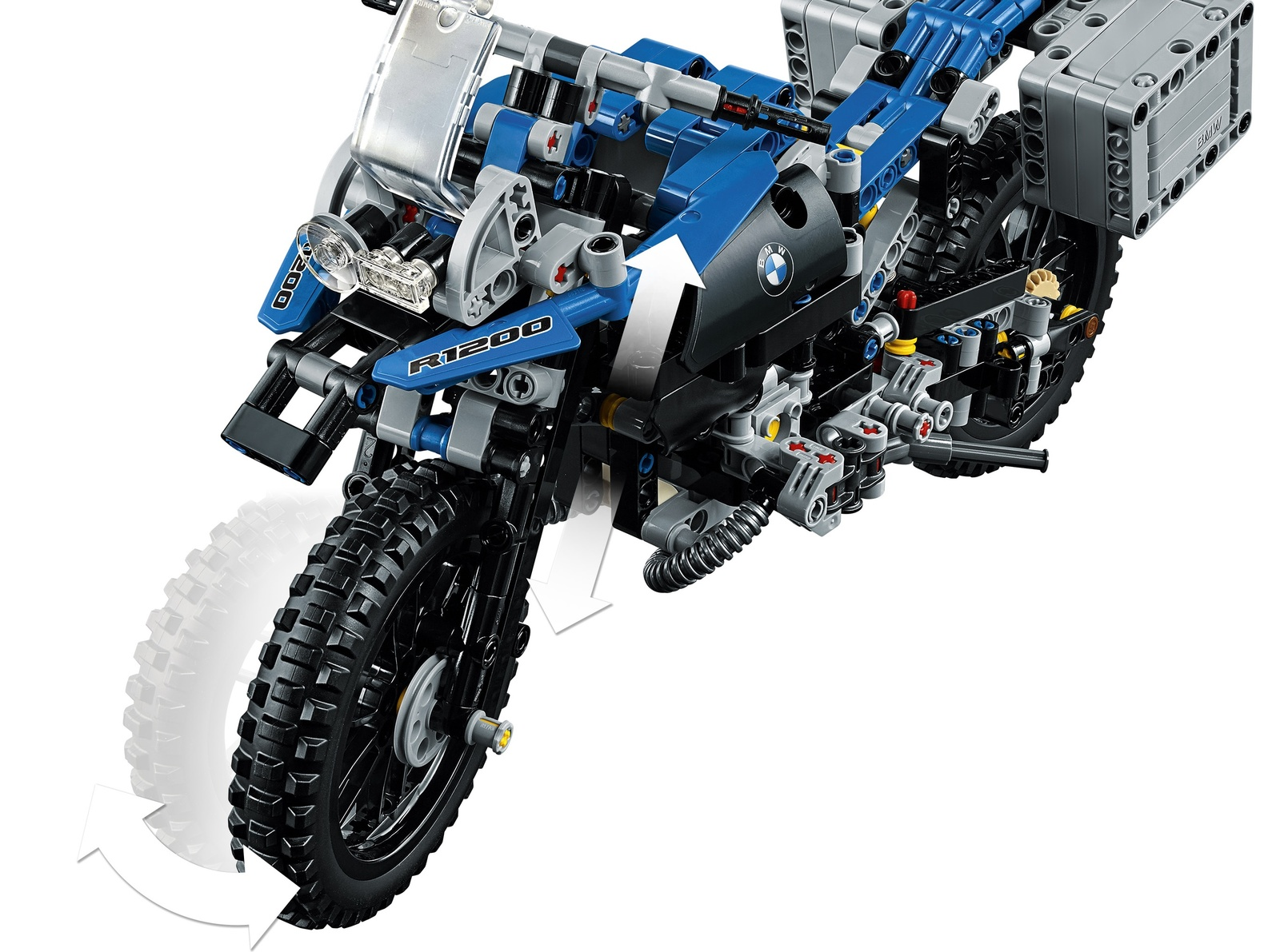 lego technic: bmw r 1200 gs adventure (42063) | toy | at mighty ape nz