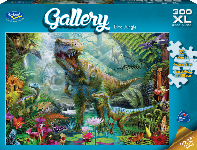 Holdson XL: 300 Piece Puzzle - Gallery (Dino Jungle)