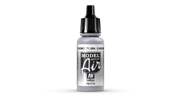 Vallejo Model Air Chrome Acrylic Paint 17ml