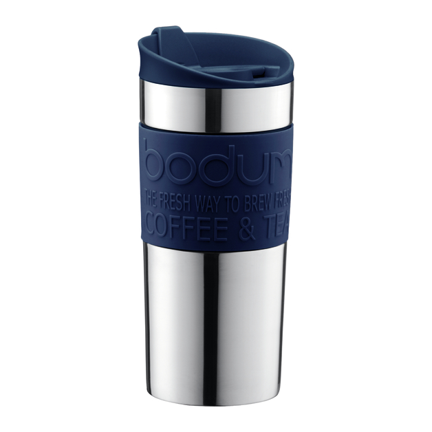 Stainless Steel Double Wall Travel Mug - Sea (350ml)