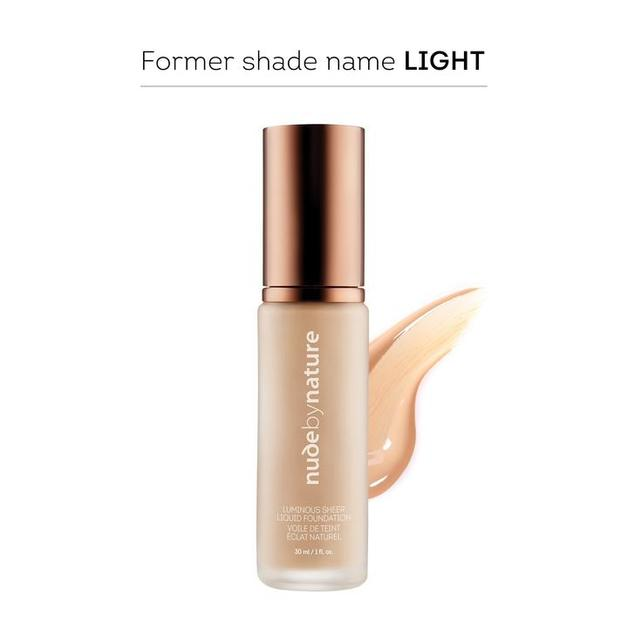 Nude by Nature Luminous Sheer Liquid Foundation N1 - Shell Beige