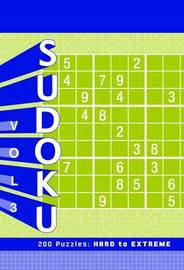 Sudoku Vol. 3 Puzzle Pad: Hard to Extreme by Chronicle Books