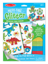 Melissa & Doug: Mess Free Glitter - Cool Creatures Foam Stickers