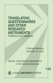 Translating Questionnaires and Other Research Instruments by Orlando Behling image