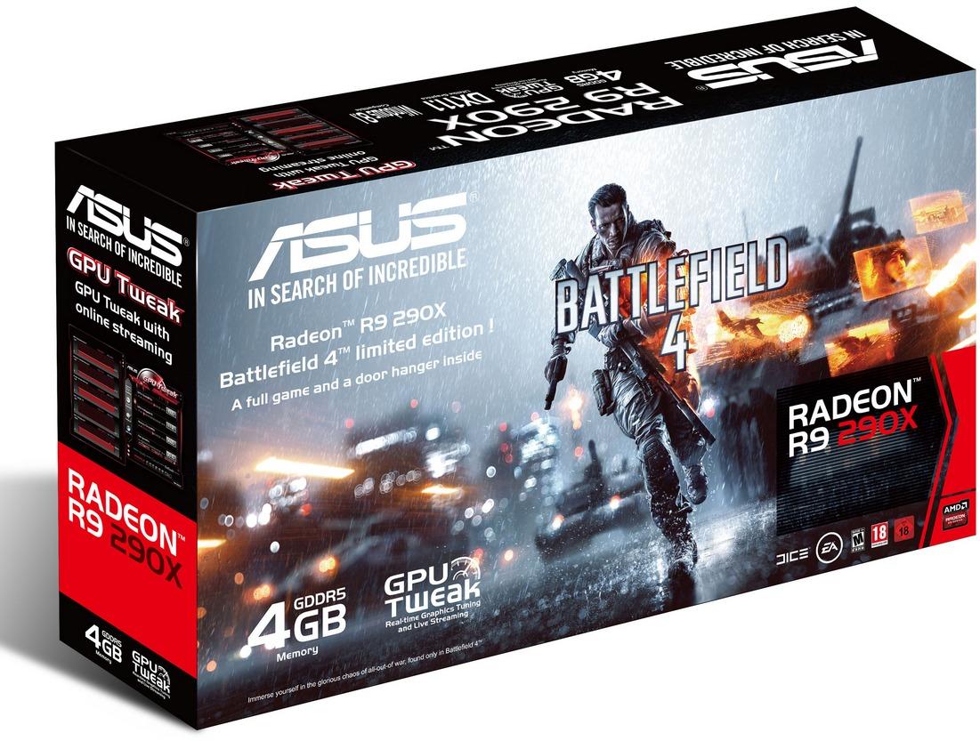 Asus Radeon R9 290X 4GB Graphics Card image