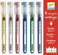 Djeco: Design - 6 Metallic Markers