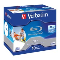 Verbatim BD-R 25GB White Wide Inkjet 6x (10 Pack)
