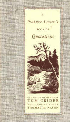 A Nature Lover's Book of Quotations image
