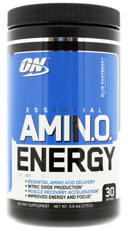 Optimum Nutrition Amino Energy Drink - Blue Raspberry (30 Serves)