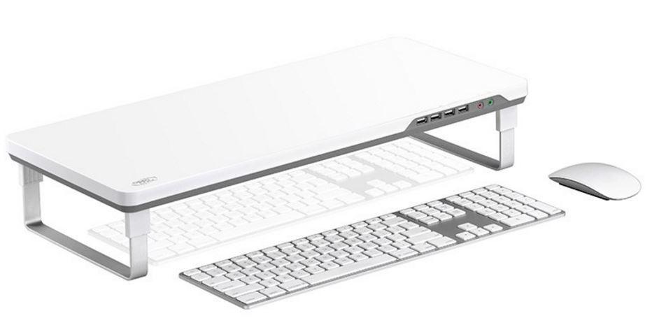 Buy Deepcool M Desk F1 Ergonomic Monitor Stand Grey At Mighty Ape Nz